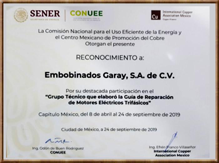 Embobinados Garay - Empresa Certificada